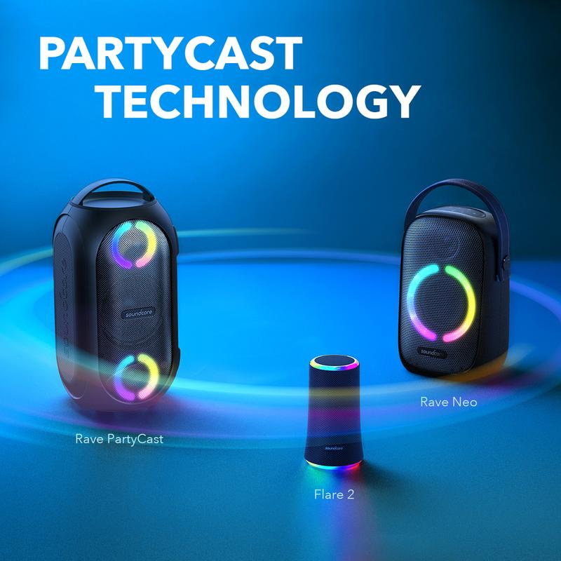 ANKER SoundCore Rave Neo PartyCast 藍牙喇叭 節拍光效 50W 派對藍芽喇叭