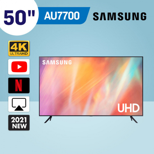 "Samsung - 50"" AU7700 Crystal UHD 4K 智能電視(2021) UA50AU7700JXZK"