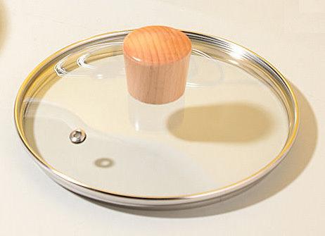 雪平鍋專用蓋 (原木珠) |吉川|煌|柳宗理|神田|-透明玻璃蓋