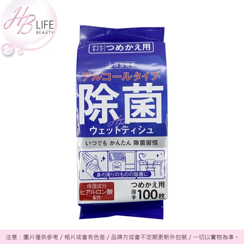 ii Mono Honpo 酒精類消毒濕紙巾補充裝 100片(100枚)