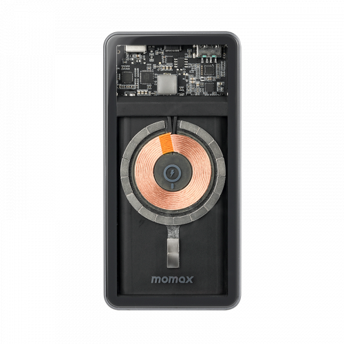 Momax Q.Mag Power+ 透明磁吸無線充流動電源 10000mAh [IP100MFI]