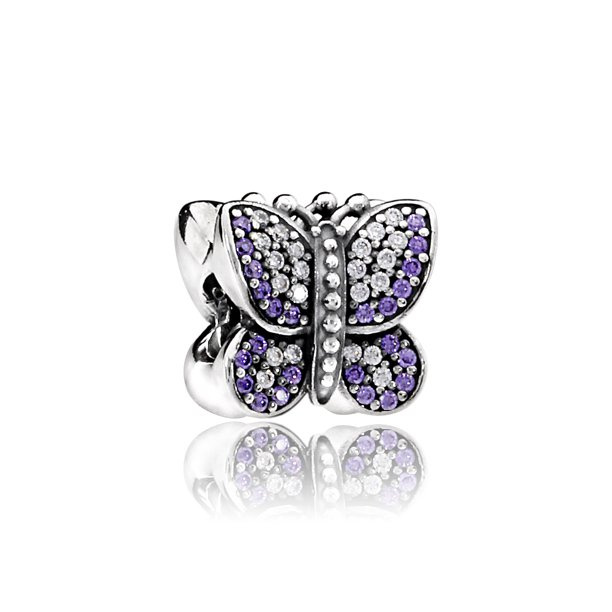 Pandora - Sparkling Butterfly Charm #791257ACZ