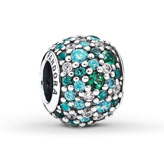 Pandora - Ocean Mosaic Pavé Ball Charm #791261MCZMX