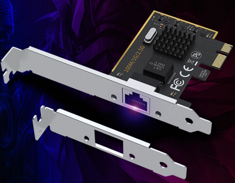 2.5 Gigabit Ethernet PCI Express PCI-E Network Interface Card 10/100/1000/2500 Mbps