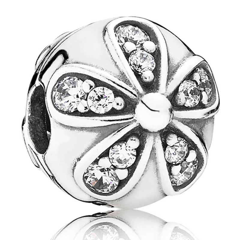 Pandora - Daisy silver clip #791493CZ