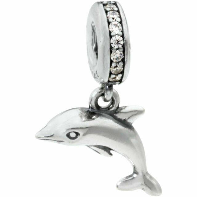 Pandora - Dolphin silver dangle #791541CZ