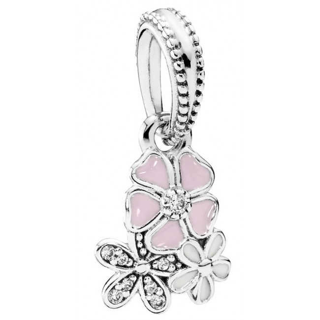Pandora - Poetic Blooms Pendant Charm #791824ENMX