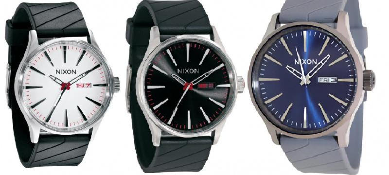 Nixon A027 男士膠帶手錶 [白/黑/灰藍]