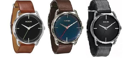Nixon A129 Mellor Men's Watch 男士皮帶手錶 [黑/深啡/淺啡]