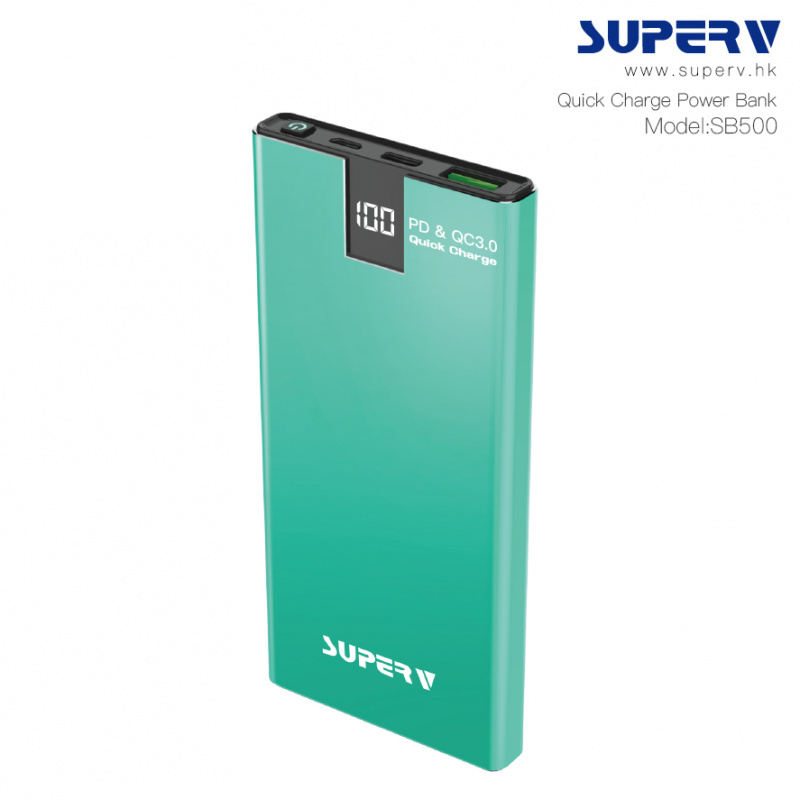 Superv SB500 PD & QC3.0 10000mAh 超薄移動電源 [4色]