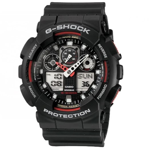 Casio G-Shock #GA-100-1A4 雙重顯示手錶