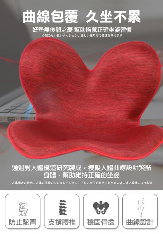 第二代日本花瓣型盆骨枕 護腰枕