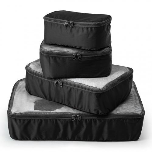 GRAMAS Packable Travel Kit Black (1套 4 個尺寸)