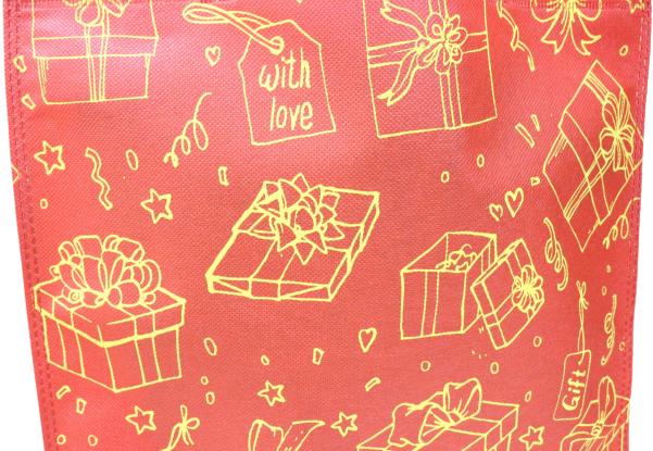 中秋節/ 月餅袋 / 冰皮月餅包裝 環保福袋平面禮物袋10個廠價特惠裝 多用途包裝用品 SK-Red33