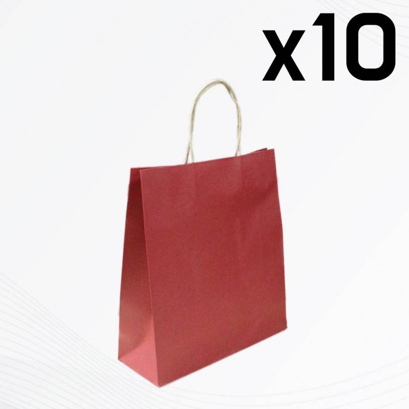現貨立體環保紅色小紙袋 10個裝 SK-PAPER03C