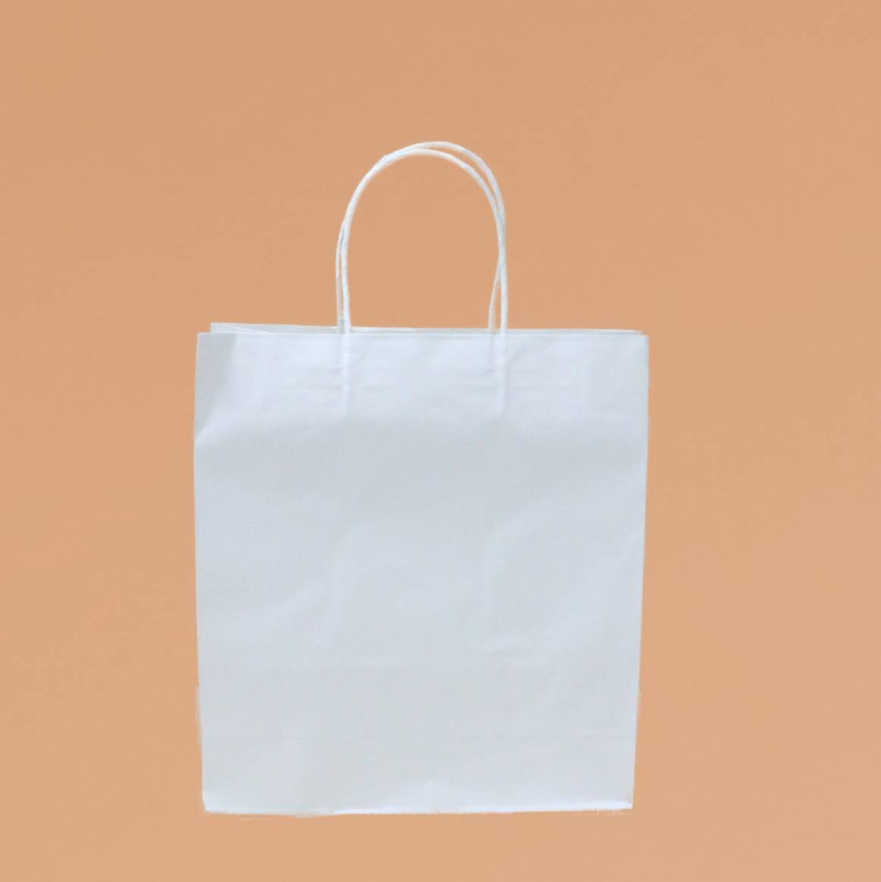 現貨立體環保白色小紙袋 10個裝 SK-PAPER03D