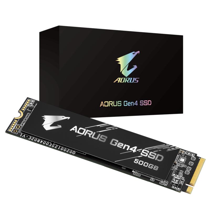 GIGABYTE AORUS Gen4 SSD 500GB PCIe 4.0 NVMe固態硬碟 GP-AG4500G