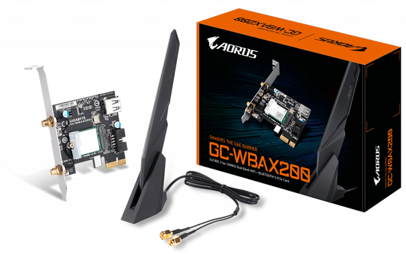 GIGABYTE AORUS 無線網路及藍牙擴充卡 GC-WBAX200 (rev. 1.0)
