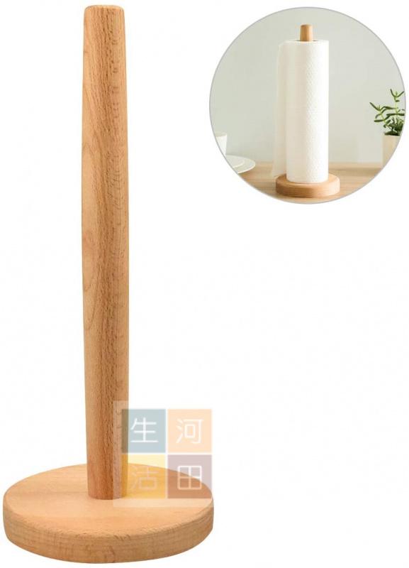 廚房抹紙架 防滑墊木製架 廚房|浴室|紙巾架