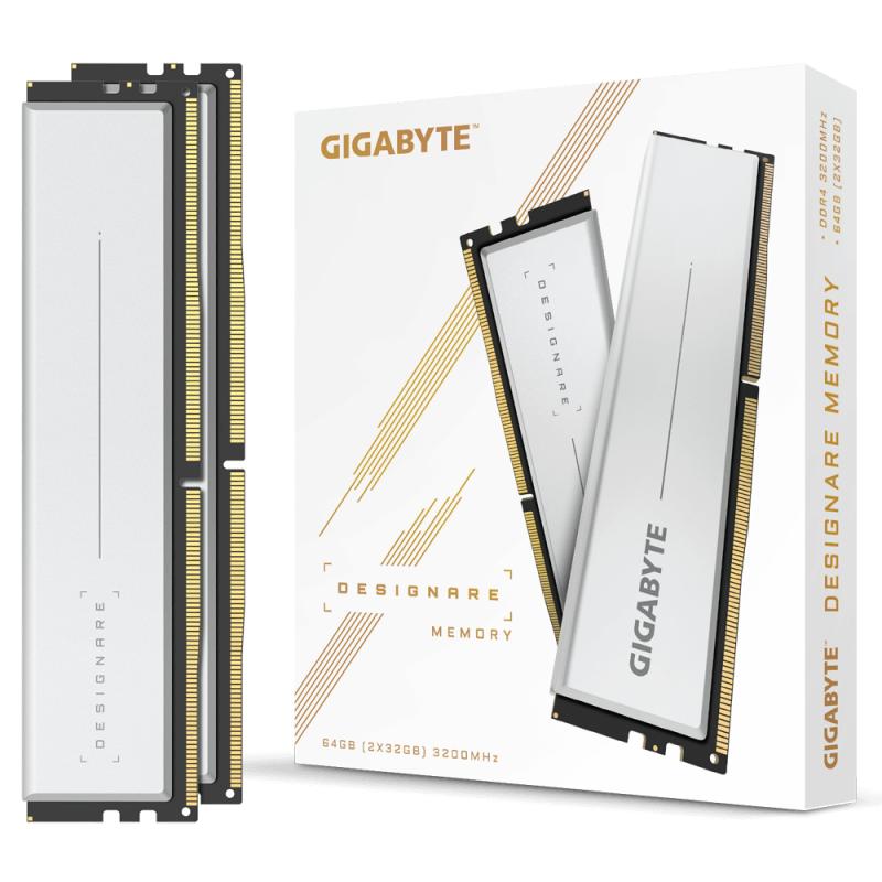 GIGABYTE DESIGNARE Memory 64GB (2x32GB) 3200MHz 主機板