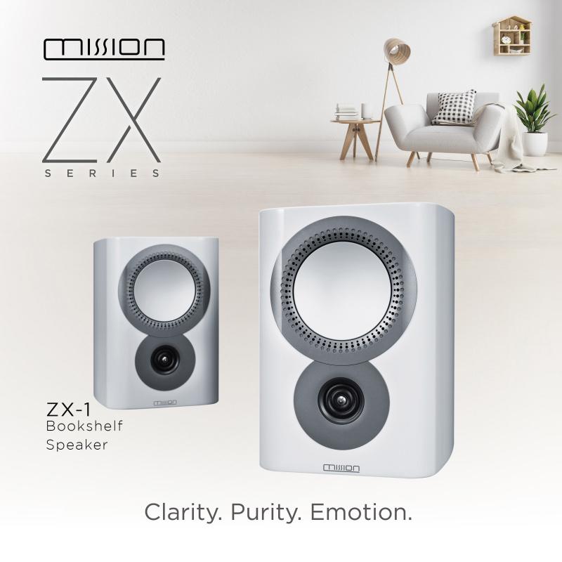 Mission ZX-1 鋼琴亮面書架喇叭 [兩色]