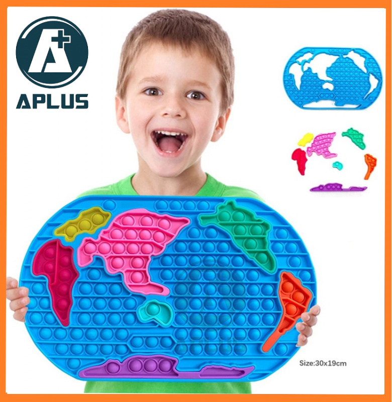 A Plus - Pop Bubble 感統兒童玩具世界地圖 訓練專注力 ADD ADHD AUTISM