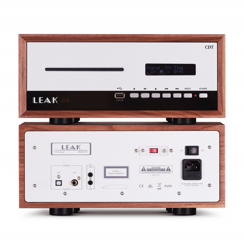 LEAK STEREO 130 合併式擴音機 + CDT CD 轉盤 (胡桃木色)