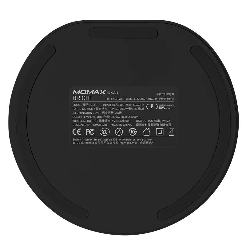【香港行貨】MOMAX Bright IoT 智能檯燈連無線充電 QL6S