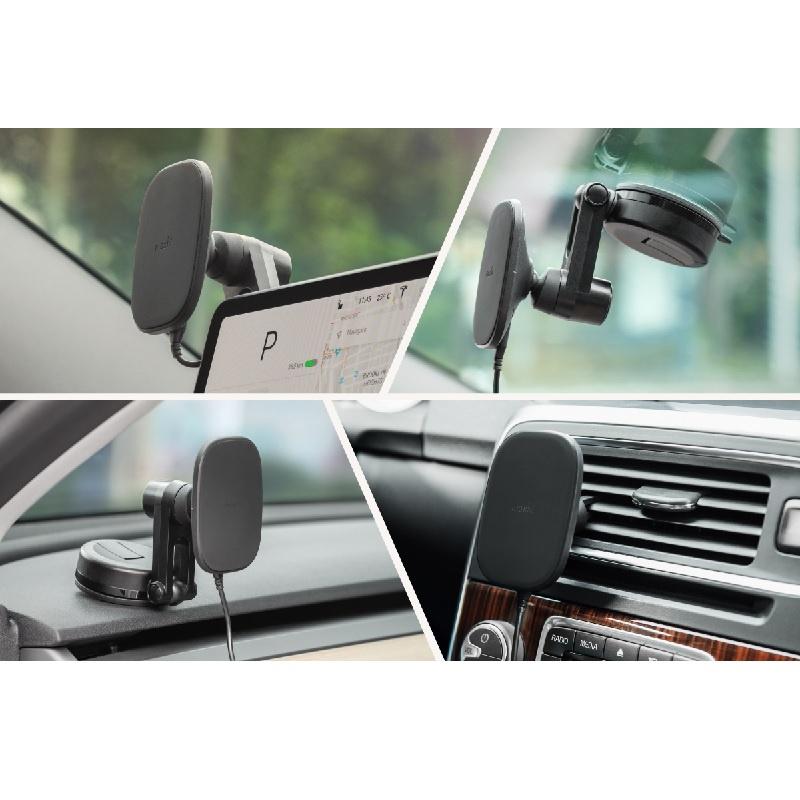 Moshi SnapTo 磁吸無線充電手機車用支架(萬用型) 【香港行貨】