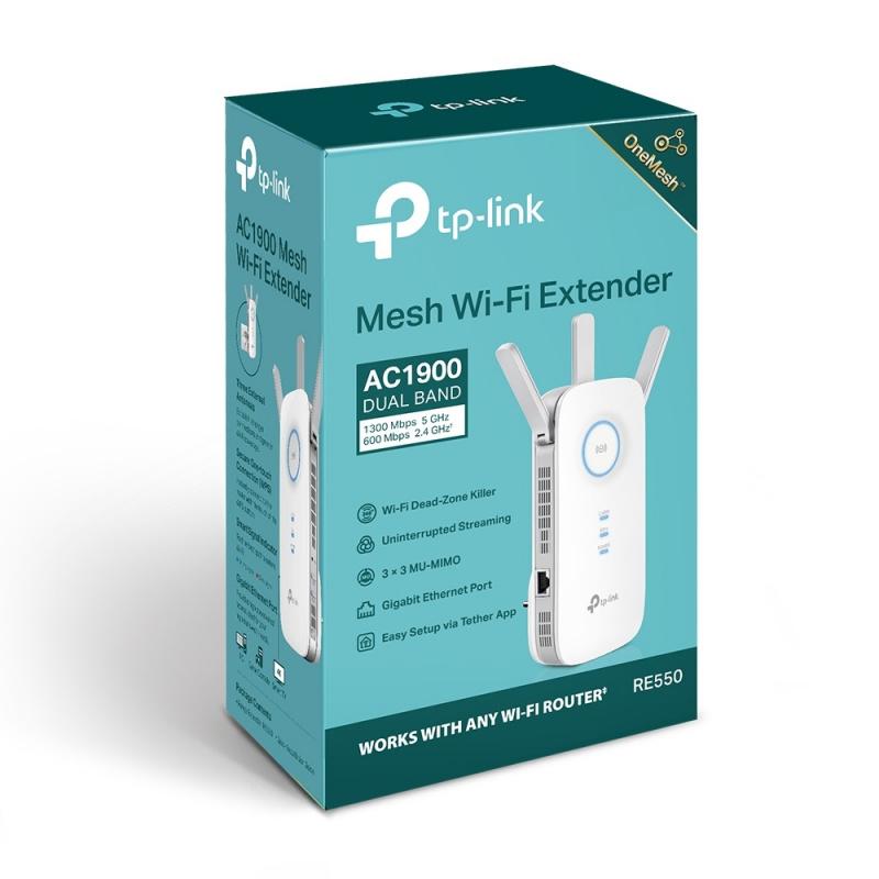 TP-Link AC1900 Wi-Fi Range Extender RE550 【香港行貨】