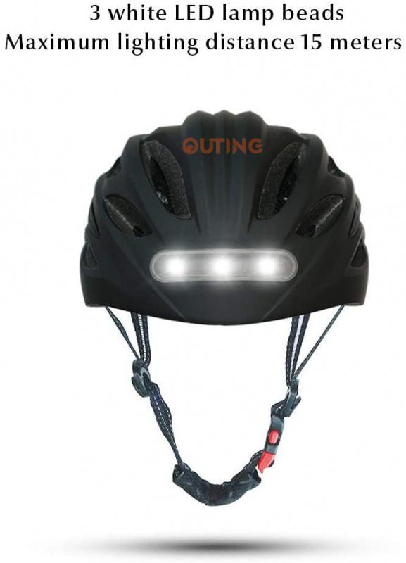 MTB閃燈單車安全頭盔 前LED照明後安全警示燈公路單車恩物 USB充電