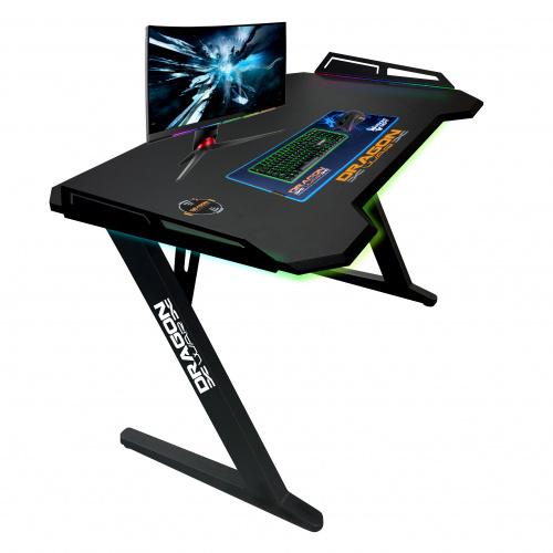 Dragon War - GT-006-V3 RGB燈效 + 內置無線充電電競枱 電腦桌 電腦檯 辨公桌