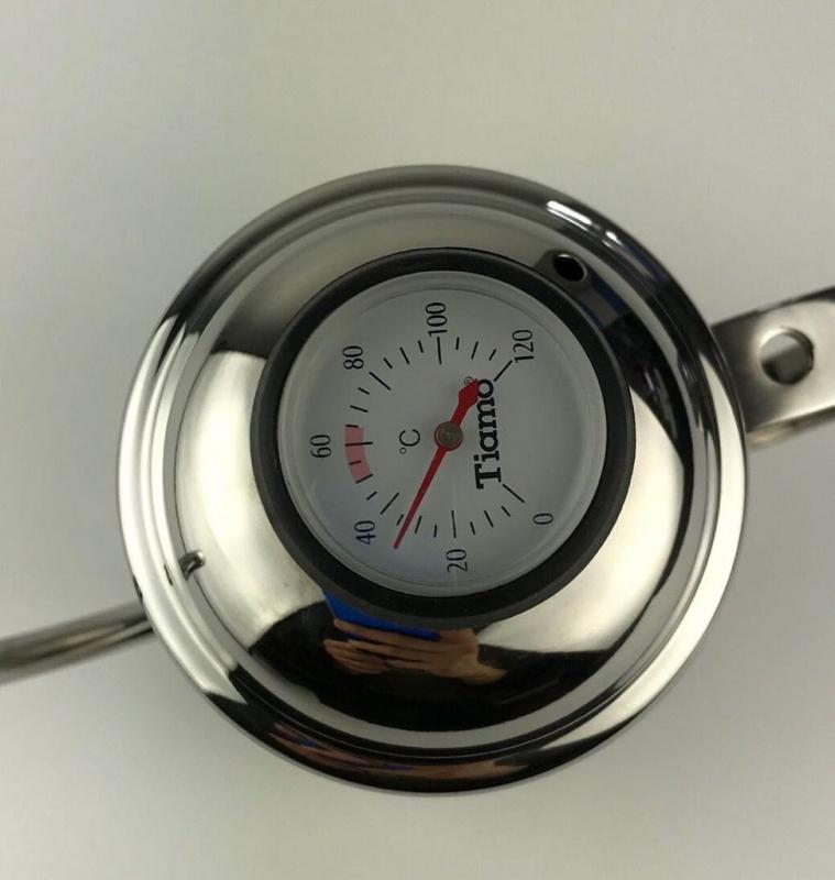 手沖細咀壼配溫度計 不銹鋼原色鵝頸手沖壺 700CC
