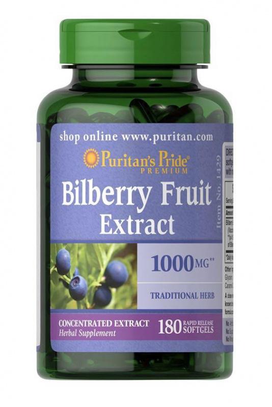 Puritan's Pride - 山桑子(藍莓)萃取物 1000mg 180粒