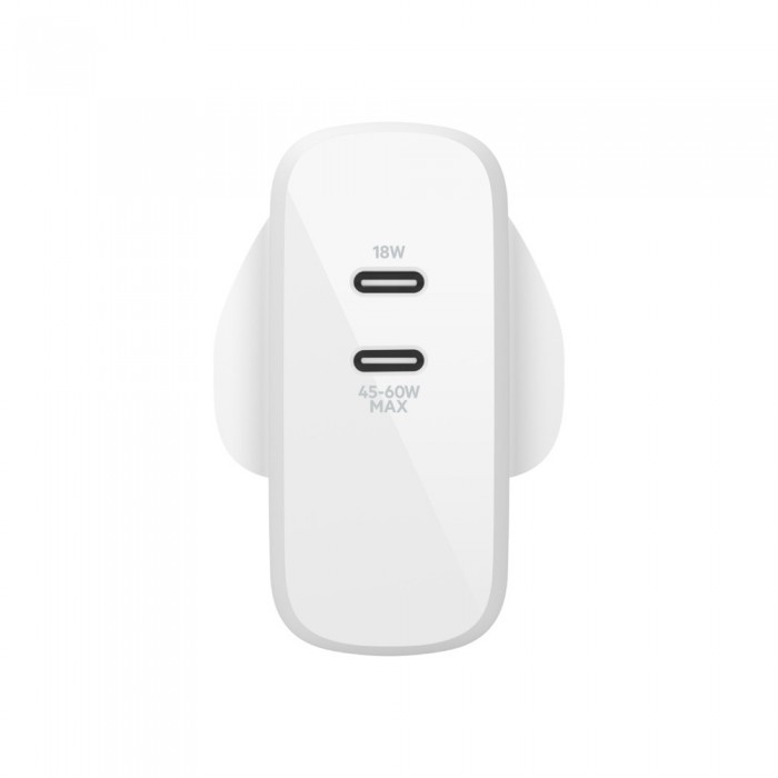 Belkin BOOST↑CHARGE™ 雙 USB-C PD GaN 家用充電器 - 63W