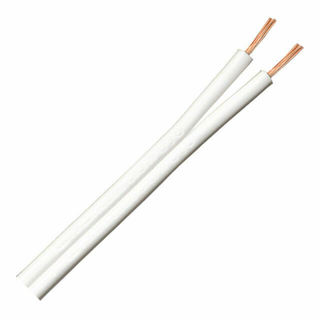 QED C42/100W 42 Strand 100m Speaker Cable - White