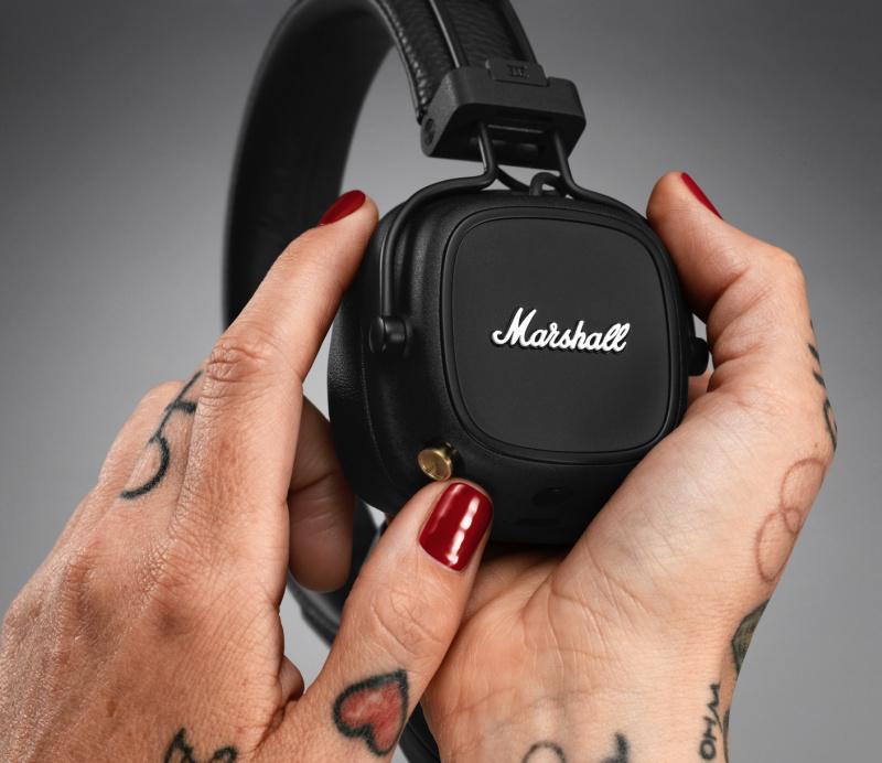 Marshall Major IV 頭戴式藍牙耳機 黑色