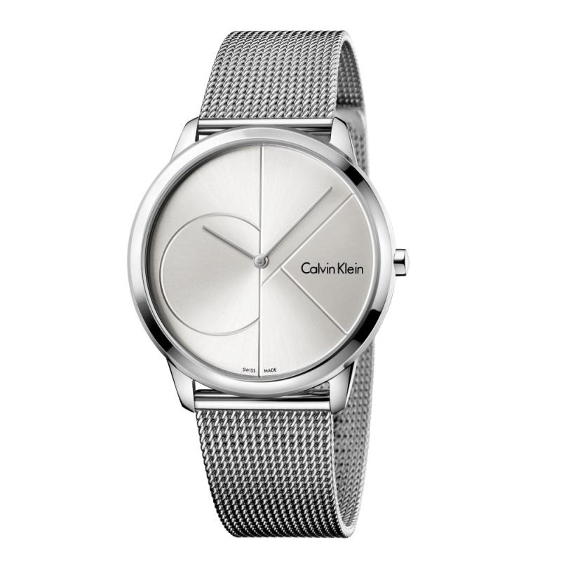 Calvin Klein Minimal 系列不鏽鋼編織錶帶腕錶 #K3M2112N #K3M2112Z #K3M21621