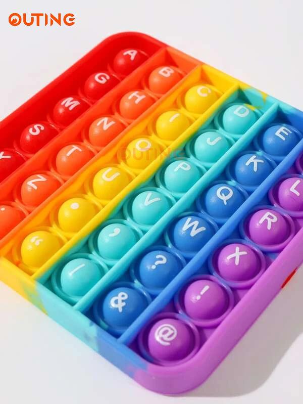 字母圖形POP IT 遊戲 ADD ADHD AUTISM 緩解焦慮和壓力