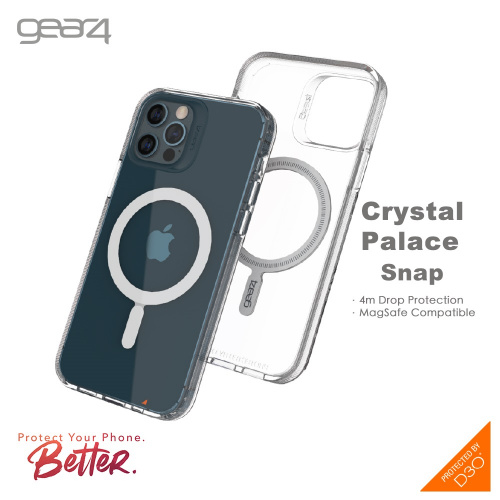 Gear4 iPhone 13 D3O® Crystal Palace Snap 水晶透明磁吸保護殼