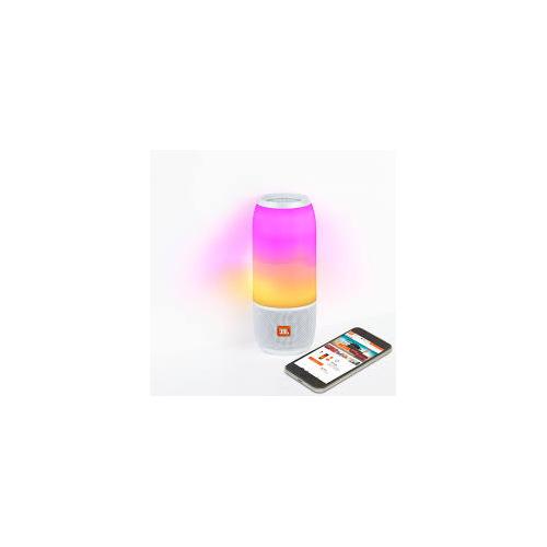 JBL PULSE 3 360° 幻光燈IPX7防水便攜無線揚聲器 [白色]