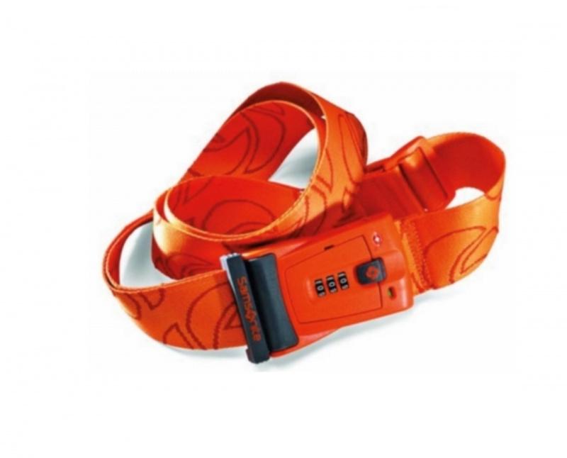 Samsonite 行李帶TSA密碼鎖旅行帶 - Orange