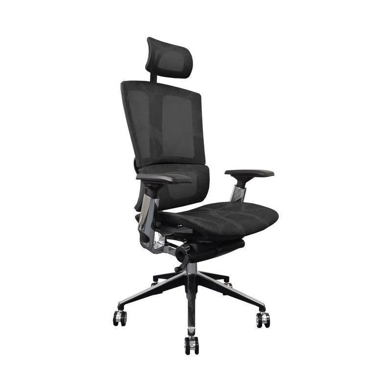 Suchprice® B06A 人體工學辦公椅 電腦椅 鋁合金腳 (灰/綠/黑)