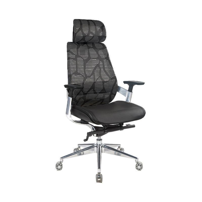 Suchprice® BN03 人體工學辦公椅 電腦椅 鋁合金腳 (黑/紅)