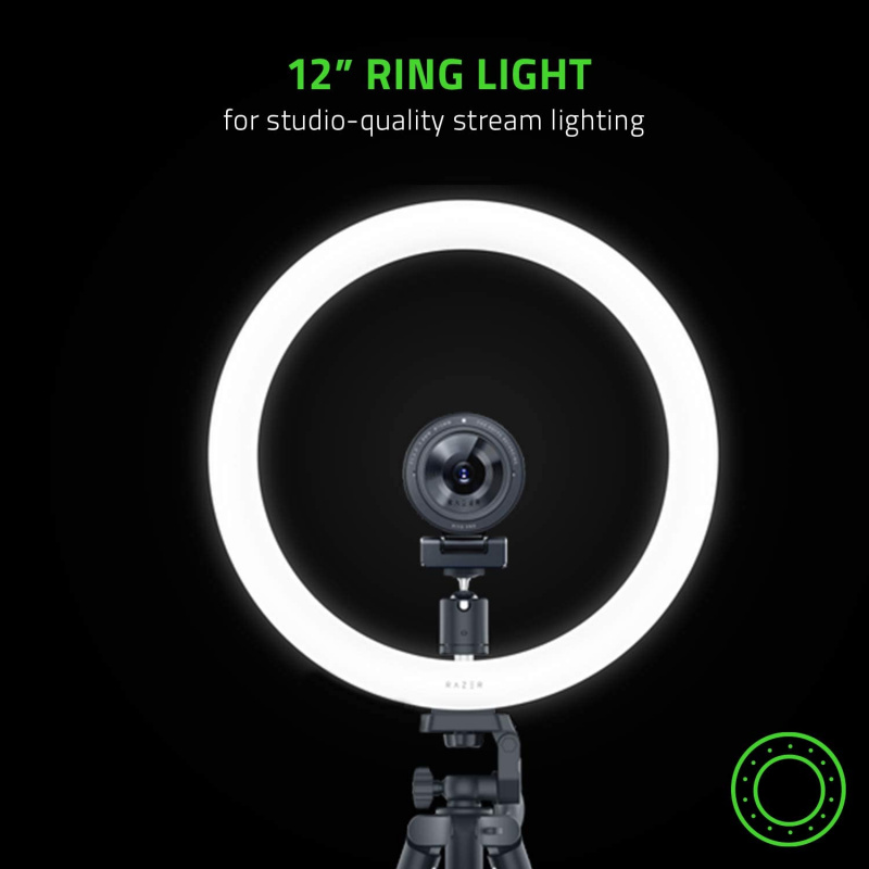 """RAZER 12""""USB LED RING LIGHT FOR STREAMING(RZ19-03660100-R3M1)"""