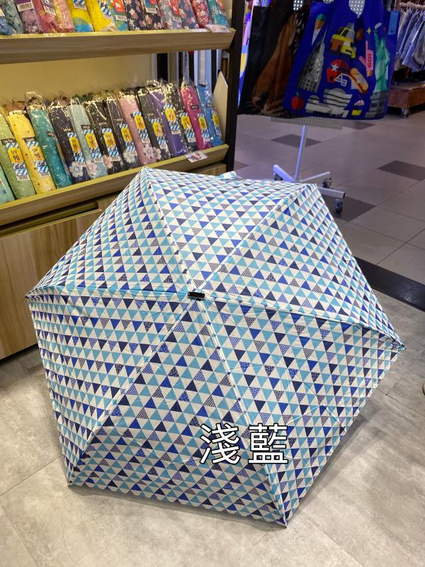 日本Water Front扁柄輕量折傘 (時尚三角圖案)
