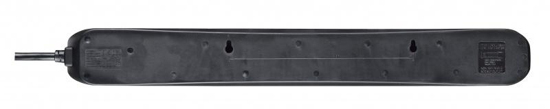 英國Masterplug - 6位X13A 2米獨立開關拖板 有電源指示燈 - SWC62NB Individual Switched 6 Socket 2M Extension Leads