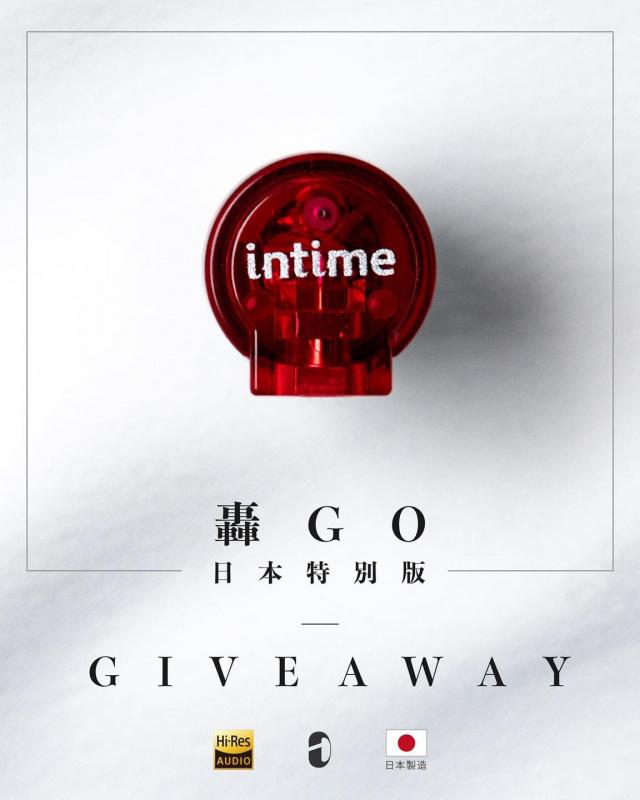 InTime 轟Go 日本製造入耳式耳機 紅色特別版