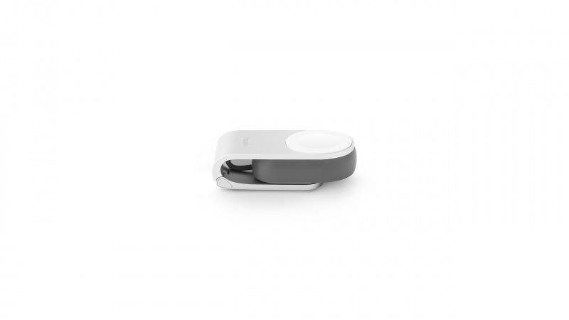 Moshi Flekto Apple Watch 銀色折疊隨身磁吸充電器
