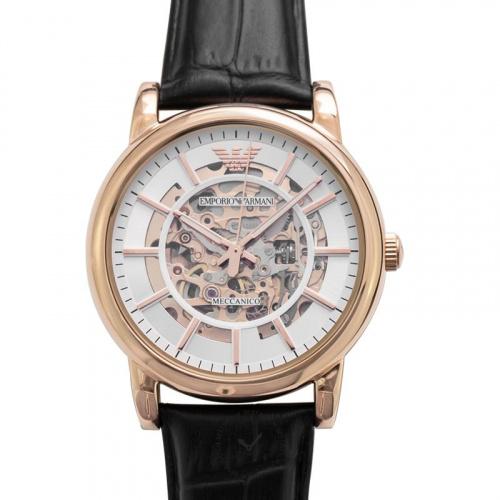 Emporio Armani 鏤空機械腕錶 43mm (AR60007) [玫瑰金色]